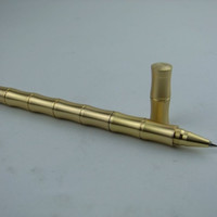A brass Handmade outdoor gadget bamboo pen pen neutral copper EDC copper tactical defense pen pen
