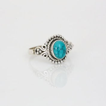 Sterling Silver with Turquoise Stone Ring