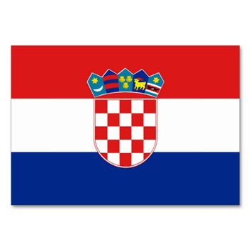 Patriotic table card with Flag of Croatia