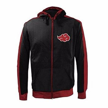Naruto Shippuden Akatsuki Clouds Anime Track Zip Up Hoodie