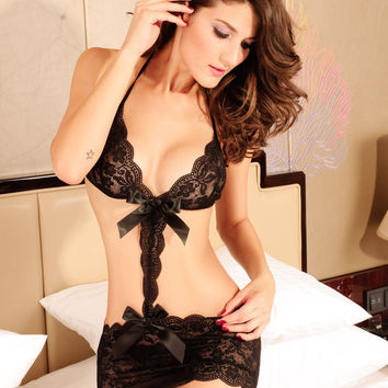 Hot Deal Sexy On Sale Cute Summer Black Lace Ladies Exotic Lingerie [6596727939]