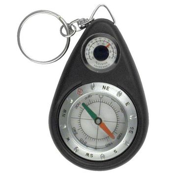 Survival Keychain Compass & Thermometer