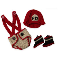 So'Dorable Fireman 3-Piece Crochet Set