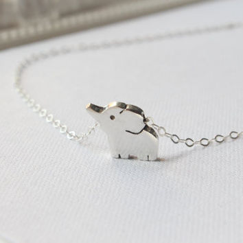 Elephant Necklace, Elephant Charm Pendant Necklace, Baby Elephant Necklace, Elephant Jewellery, Pendant Necklace, Gift Jewelry, Dainty Charm
