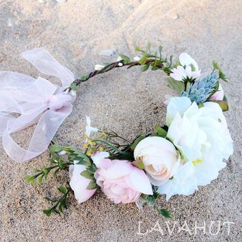 Bohemian Cream Flower Crown