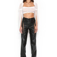 LEWIS CROP - WHITE