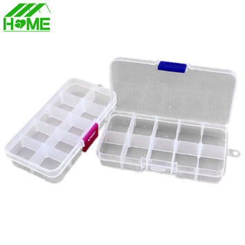 10 Slots Cosmetic Adjustable Jewelry Necklace Clear Make Up Storage Box Organizador Case Holder Craft Makeup Organizer Tools