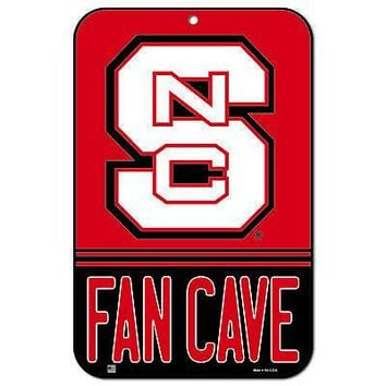 """Licensed North Carolina State Wolfpack NCAA 11"""" x 17"""" Fan Cave Plastic Wall Sign 11x17 KO_19_1"""