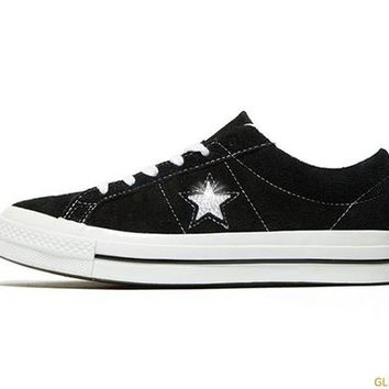 Converse One Star Premium Suede Low Top + Crystals - Black 3a06a20cdf
