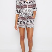 Tribal Elephant Zip-Down Romper | Jumpsuits & Rompers | rue21