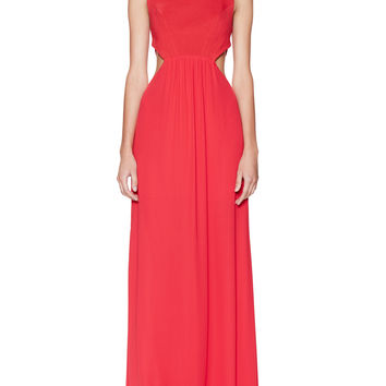 BCBGMAXAZRIA Women's Angelinah Cut-Out Back Dress - Red -