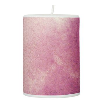 CHERRY FROST PILLAR CANDLE