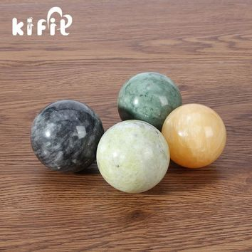 KIFIT Natural Stone Massage Health Ball Exercise Meditation Stress Relief Handball Fitness Ball Natural Health Care Product