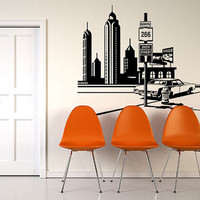 Wall Vinyl Sticker Decals Decor Art Bedroom Design Mural Town City Poster (z987)