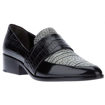 3.1 Phillip Lim Crocodile Effect Loafer - Aloha Rag - Farfetch.com