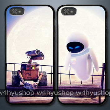 Wall-E and Eve iPhone 5 4/4S Samsung Galaxy S3 Couple Hard Plastic Cases