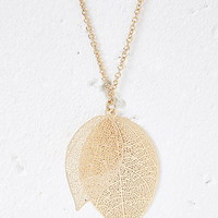 Leaf Pendant Longline Necklace
