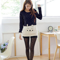 Polka Dot Long Sleeve Sweater