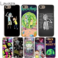 Lavaza Rick and Morty Cover Case for iPhone X 10 8 7 6 6S plus Cases for Apple 5 5S 5C SE 4 4S Coque Shell