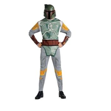 Adult Star War Boba Fett Costume Space Station Superhero Soldier Costumes Printed Jumpsuit Holiday Cosplay Clothing Fancy Dress