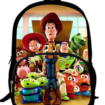 16-Inch Buzz Lightyear Toy Story Backpacks For Teenage Boys Cartoon Mochila Toy Story Children School Bags Girls