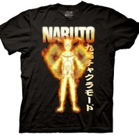 Naruto Anime Shippuden Bijuu Mode Adult Black T-shirt