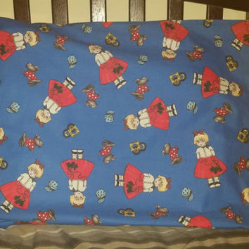 20 x 27 Poodle Skirt Girl Pillowcase
