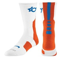 Nke Elite KD Kevin Durant Basketball Crew Socks White