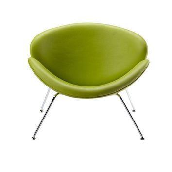 Modrest Anais Contemporary Green Leatherette Accent Chair