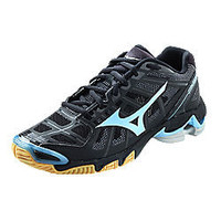 Wave Lightning RX2 Womens Volleyball Shoe Black-Light Blue - Lucky Dog Volleyball