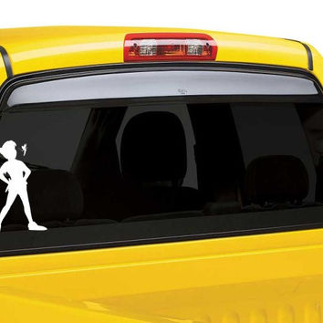 Peter Pan and Tinkerbell vinyl car window decal sticker