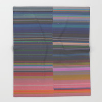 scanner stripes Throw Blanket by duckyb