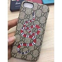 GUCCI Fashion Snake Print iPhone Phone Cover Case For iphone 6 6s 6plus 6s-plus 7 7plus 8 8plus