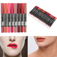New 19 Colors MENOW KISS PROOF M.n Sexy Beauty Waterproof Lip Pencil Lipstick Lip Gloss Lip Liner