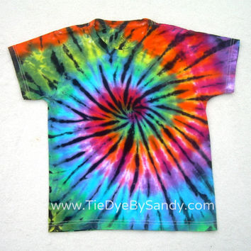 Child Small Tie Dye Shirt Rainbow Stained Glass