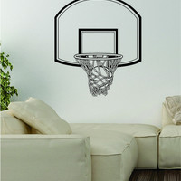 Basketball Hoop Decal Wall Vinyl Art Decor Room Teen Sports Ball NBA Bedroom
