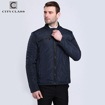 Men Quilted Reflective Jackets and Coats Thin Cotton Padded Pilot Casual Fashion