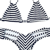 Montce - Euro Top / Preview Bottom Bikini Separates (Striped)