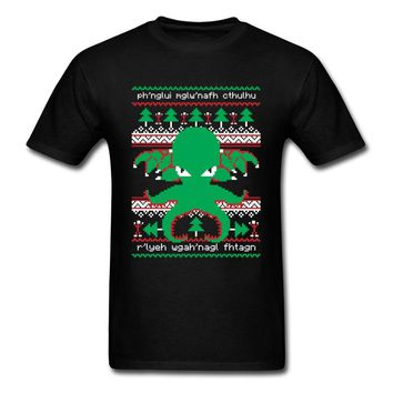 Lasting Charm Tshirt Cthulhu Cultist Christmas T Shirt Mens Sports T-shirt Man Xmas Gift Sweater Graphic