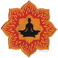 Zen Lotus Flames  Patch on Sale for $5.99 at HippieShop.com