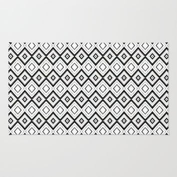 aztec pattern Area & Throw Rug by spinL