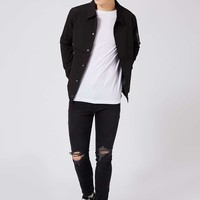 Washed Black Ripped Stretch Skinny Fit Jeans | Topman
