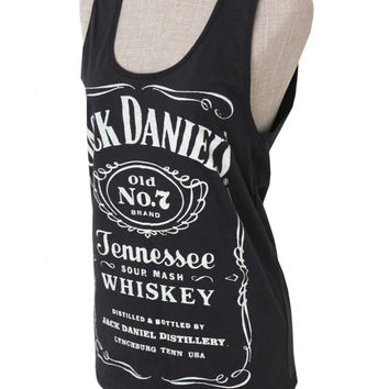 6887e32a52a Brand new Women Jack Daniels Summer tank top tee t-shirt black