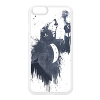Wolf Song 3 White Silicon Rubber Case for iPhone 6 by Balazs Solti