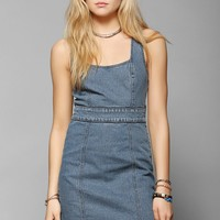 Silence + Noise Fitted Denim Dress - Urban Outfitters