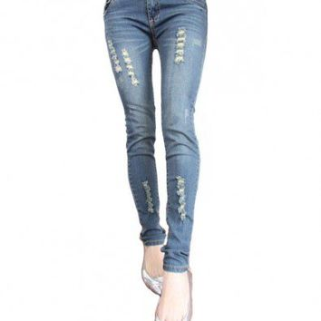 Skinny Jeans with Distressed Details