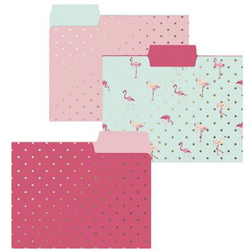 Flamingo Pink File Folder Set