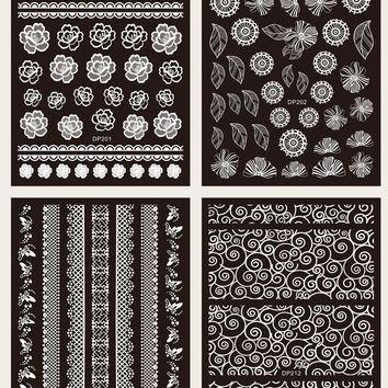 Mix Pattern Nail Sticker 4sheets