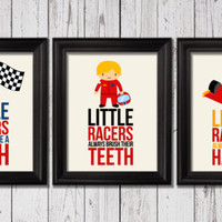 Little racers bathroom rules,  Race Cars Decor, boys art prints, Kids Wall Art, Bathroom decor, Bathroom rules art, cars trucks baby art
