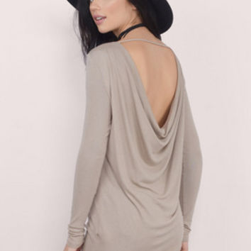 Low Rider Cowl Back Top $36
